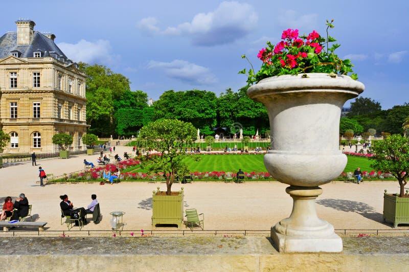 Jardin du Lussemburgo a Parigi, Francia immagine stock