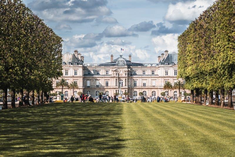 Jardin Du Luxembourg Half Shadow royalty free stock photos
