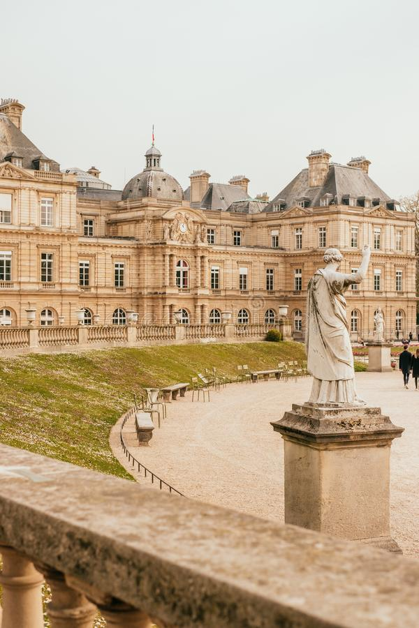 Jardin du Luxembourg royalty free stock photo