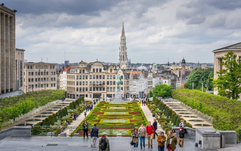 Jardin du mont des arts editorial image image of park for Architecte de jardin bruxelles