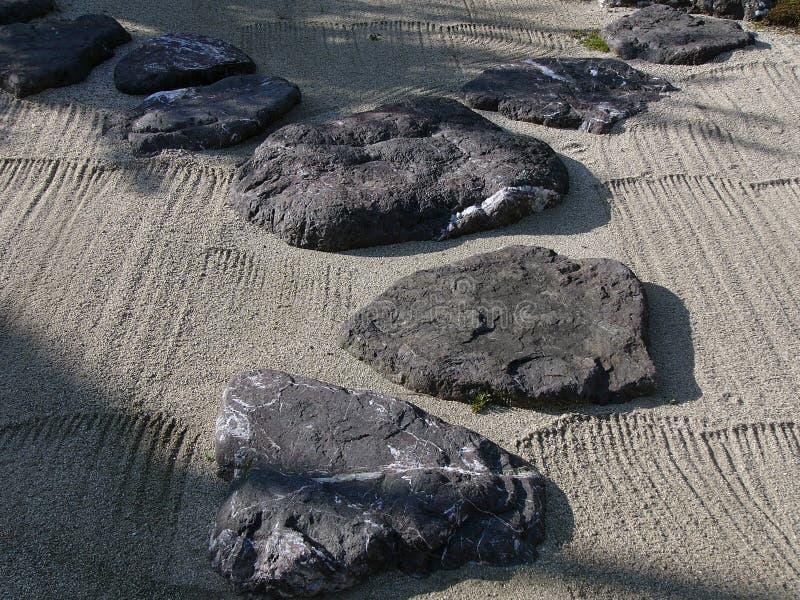 Jardin en pierre japonais photo stock