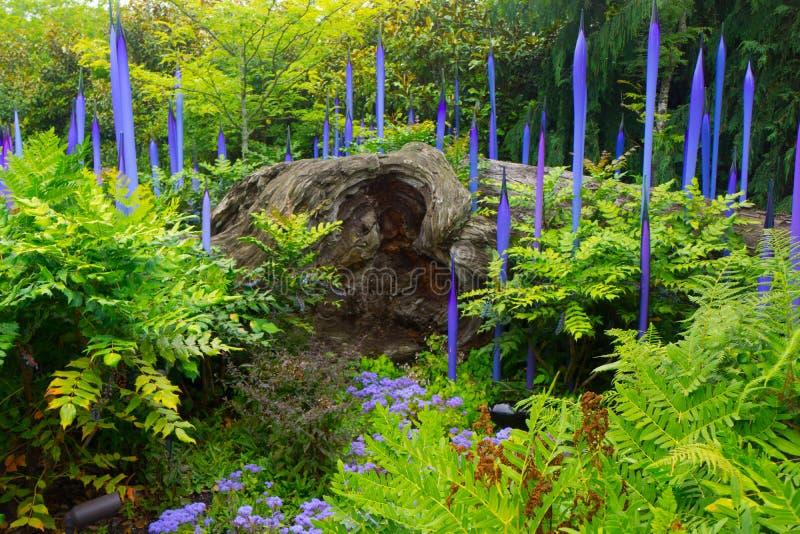 Jardin et verre de Chihuly photo stock