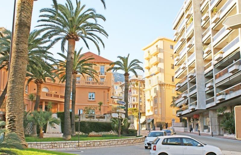 Jardin Exotique大道在摩纳哥 免版税库存照片