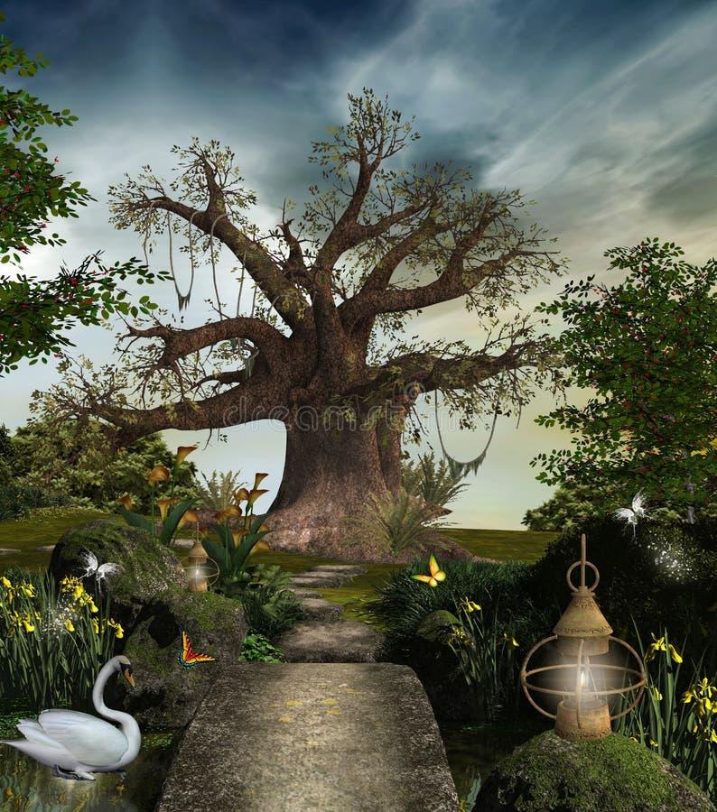 Jardin fabuleux illustration de vecteur