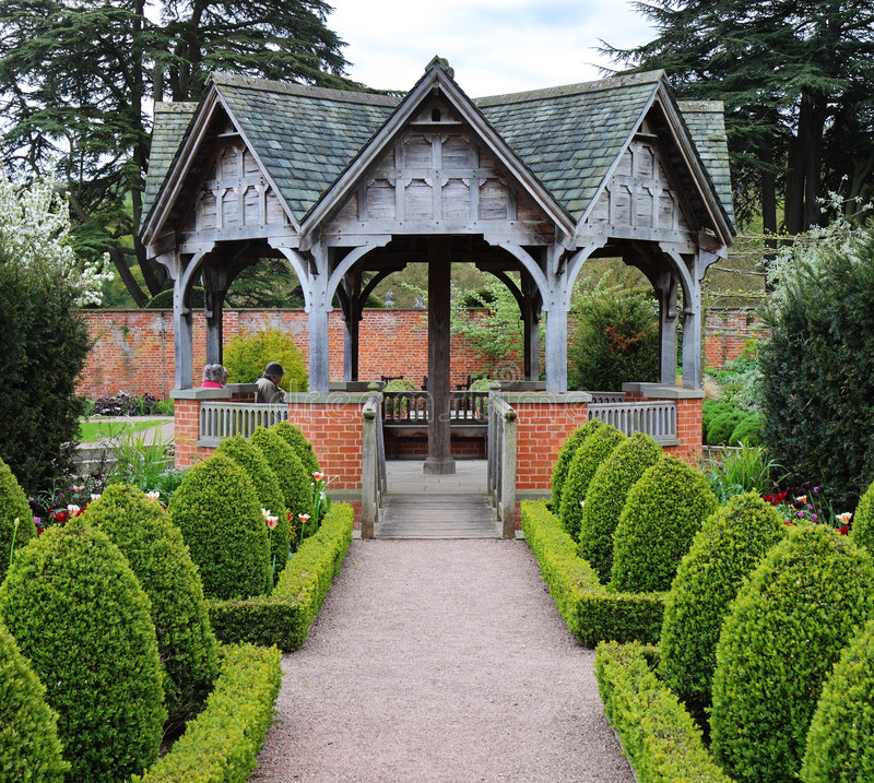 jardin formel anglais image libre de droits