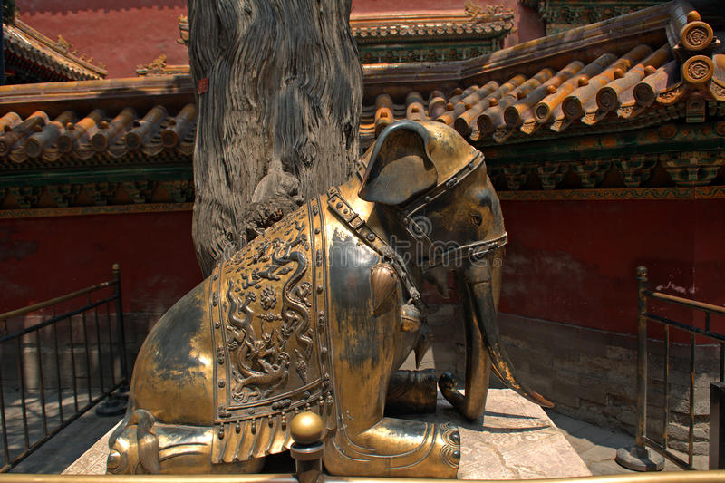 Jardin impérial dans le Cité interdite, Pékin, Chine photo libre de droits