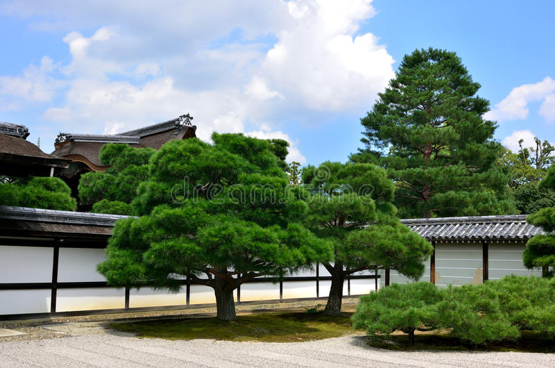 Jardin japonais au temple, Kyoto Japon photographie stock libre de droits