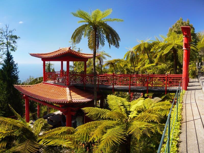 Jardin japonais chinois, zen de pagoda image libre de droits