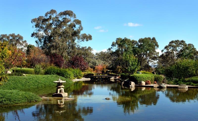 Jardin japonais dans Cowra, Australie images libres de droits