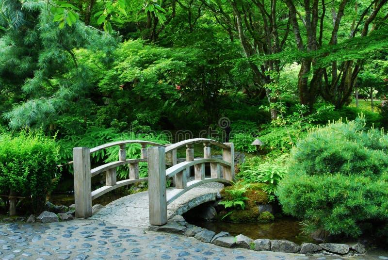 Jardin japonais dans des jardins de butchart photos stock