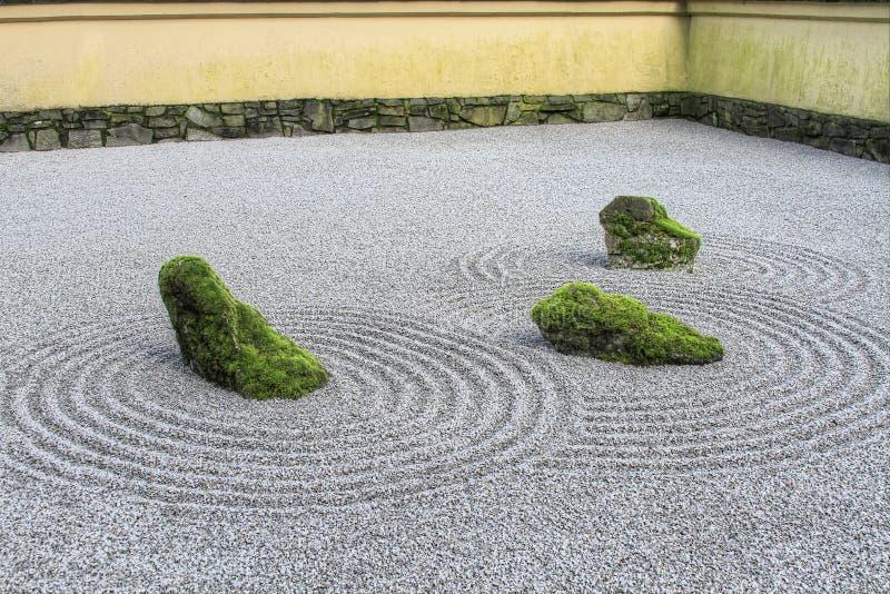 jardin japonais de sable de zen image stock image du stationnements sable 12864337. Black Bedroom Furniture Sets. Home Design Ideas