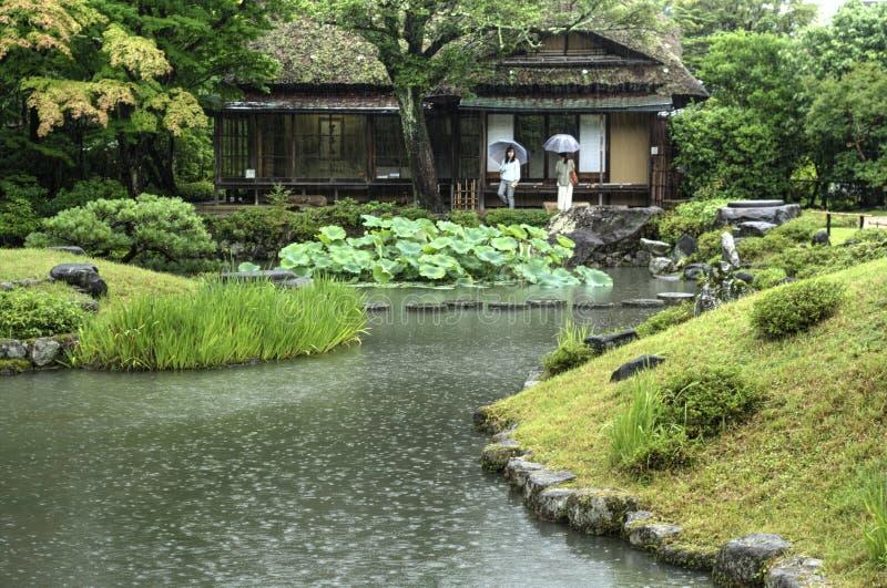 Jardin japonais Isuien à Nara image stock