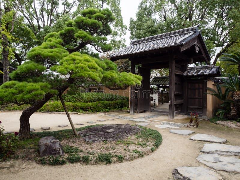 Jardin japonais traditionnel dans la résidence samouraï photo libre de droits