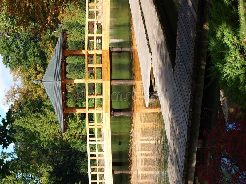 Jardin japonais, Wroclaw, Pologne image libre de droits