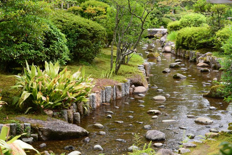 jardin Kenroku-en Chubu Kanazawa japan image libre de droits