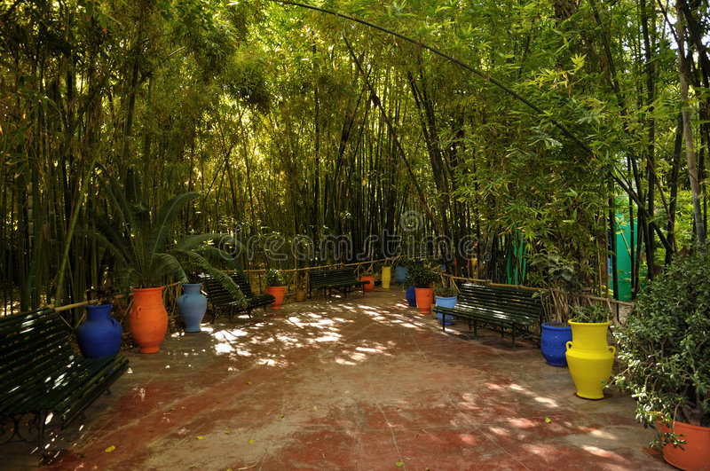 Jardin Majorelle in Marrakech stock image