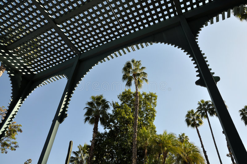 Jardin Majorelle in Marrakech royalty free stock photos