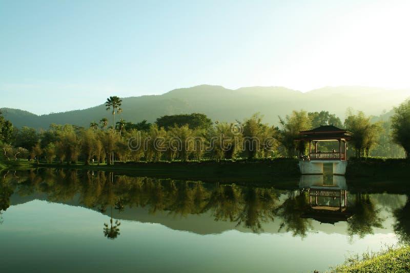 Jardin Malaisie de lac taiping image libre de droits