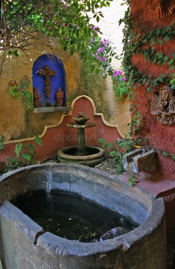 jardin mexicain image stock image du paisible spirituel 601287. Black Bedroom Furniture Sets. Home Design Ideas
