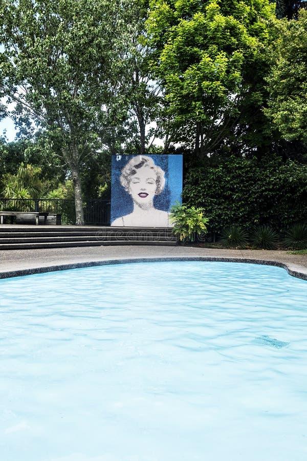 Jardin moderniste Hamilton Gardens New Zealand NZ image libre de droits