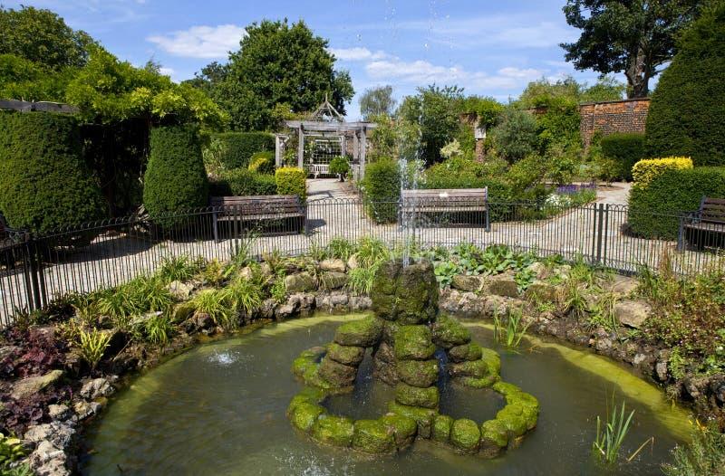 Jardin muré en parc de Brockwell, Brixton. image stock