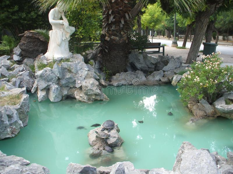 Jardin national Athènes images libres de droits