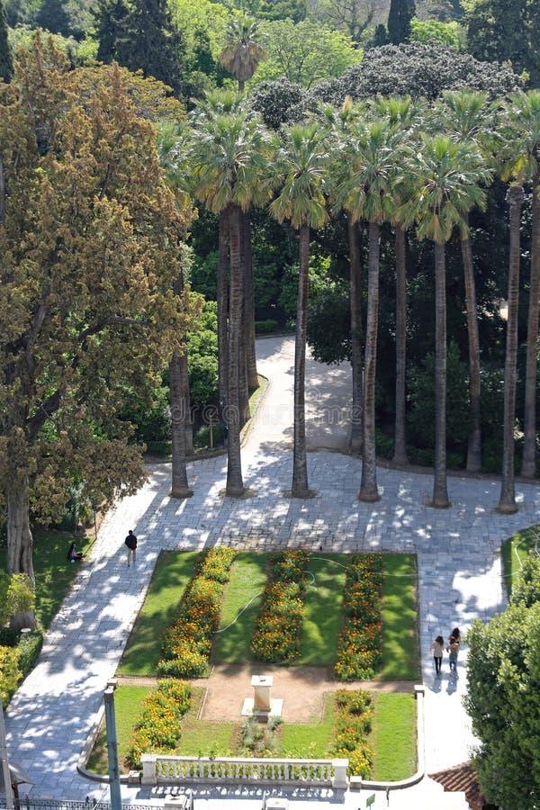 Jardin national Ath?nes image libre de droits