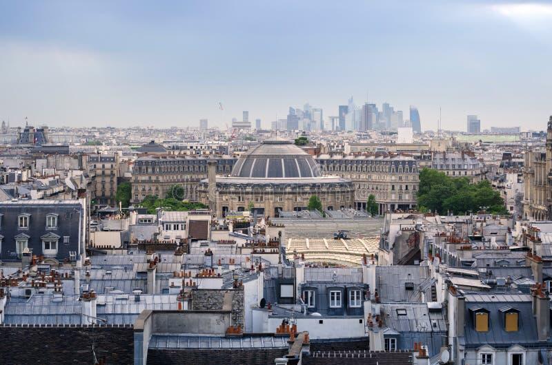 Jardin Nelson Mandela Covered Market met de Horizon van Parijs royalty-vrije stock afbeeldingen