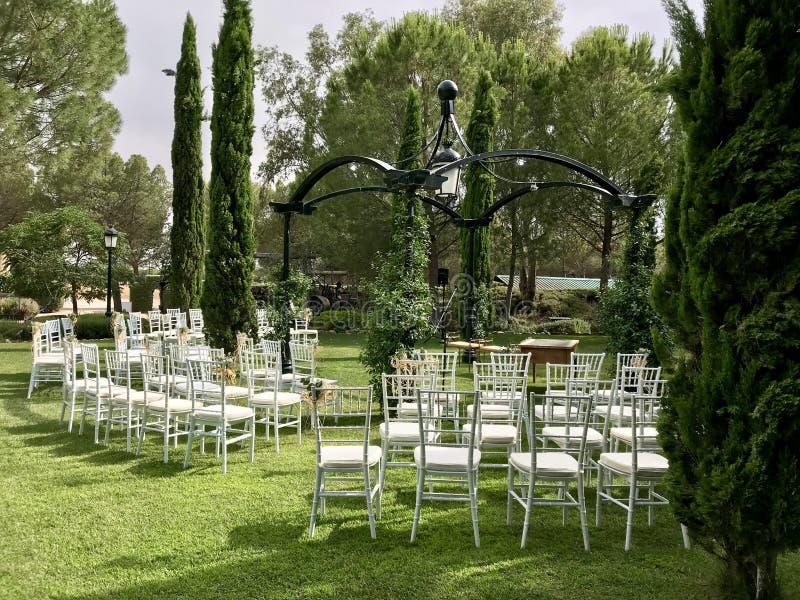 jardin Para bodas fotografia stock