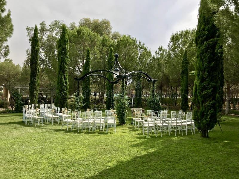 jardin Para bodas obrazy stock