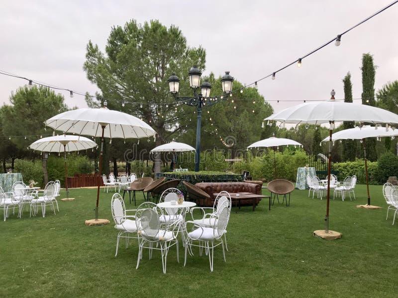 jardin Para bodas fotografia royalty free