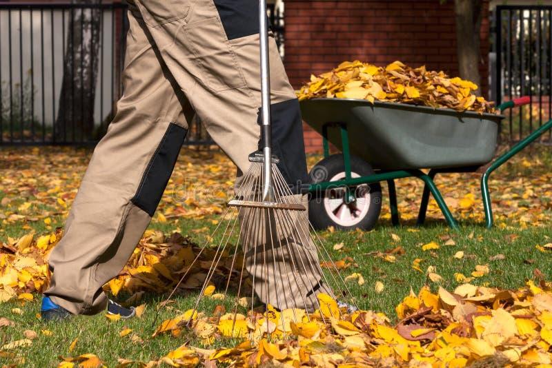 Jardin préparant avant automne photo stock