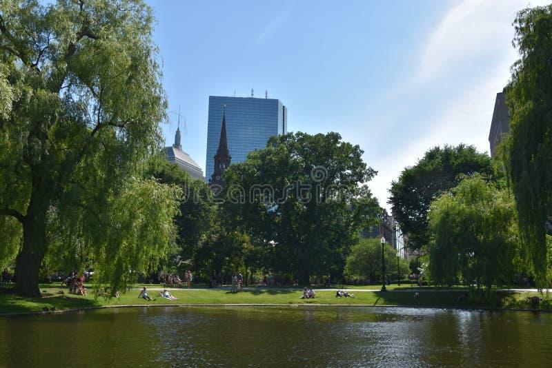Jardin public à Boston, le Massachusetts photographie stock