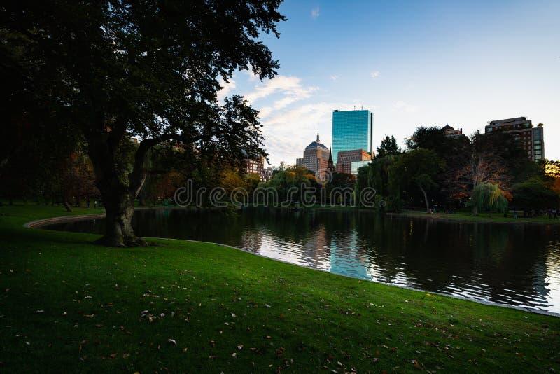 Jardin public de Boston images libres de droits