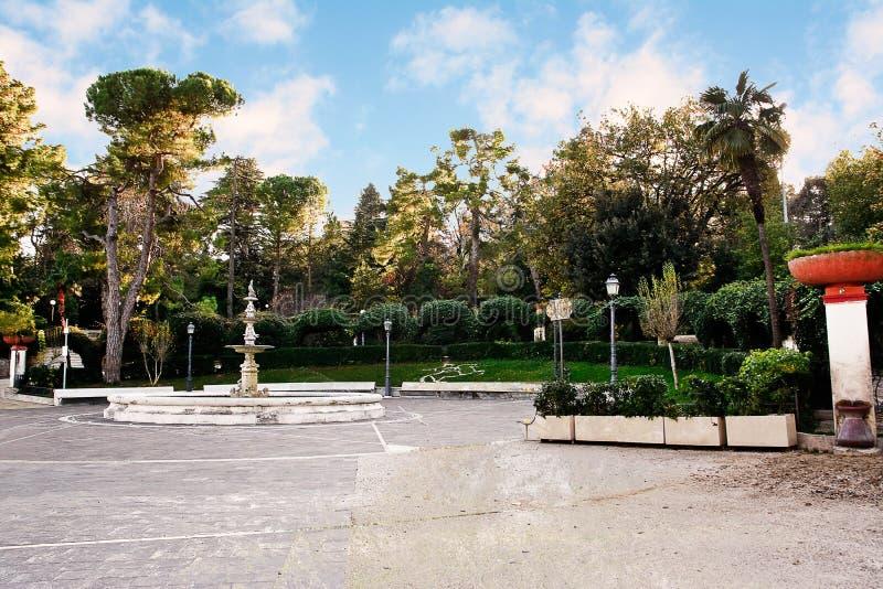 Jardin public de Chieti (Italie) photo stock