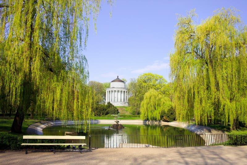 Jardin saxon à Varsovie images libres de droits