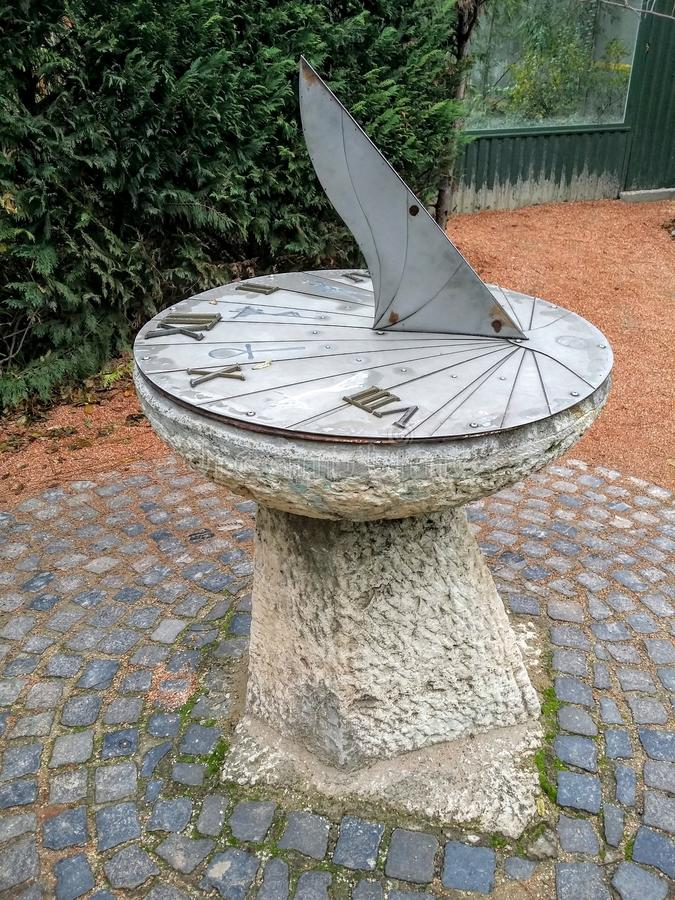 Jardin secret de cadran solaire photos libres de droits