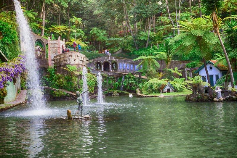 Jardin tropical de palais de Monte Funchal, Madère, Portugal photo stock