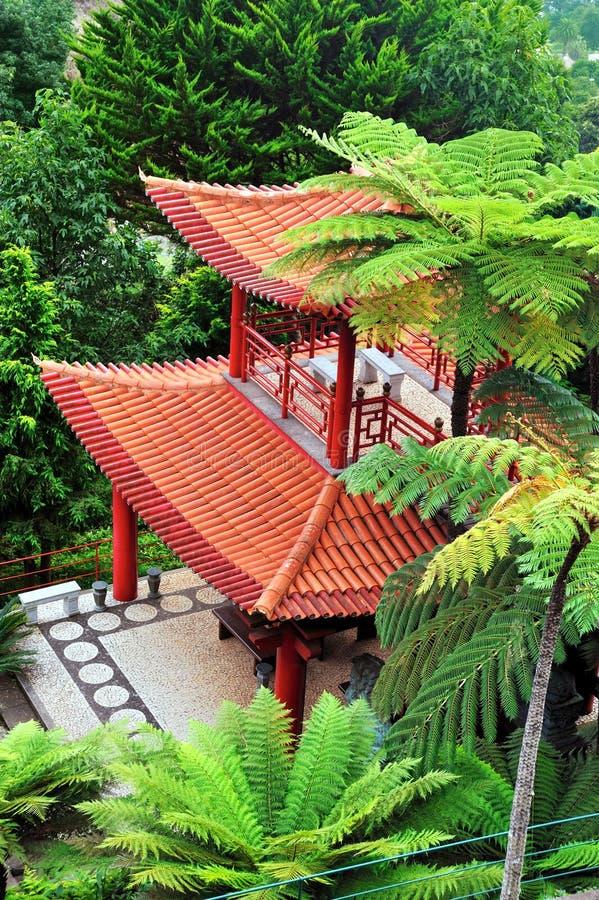 Jardin tropical de palais de Monte - Monte, Madère image stock