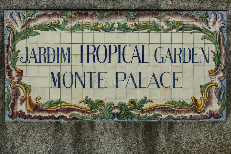 Jardin tropical Monte Palace de Jardim image stock