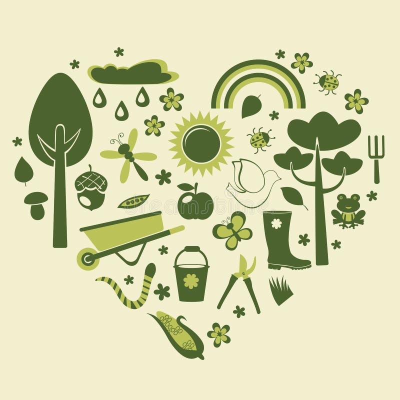 Jardinage de coeur illustration de vecteur