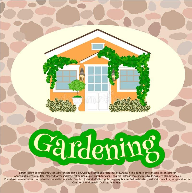 Jardinage de Hause et de petite ferme illustration libre de droits