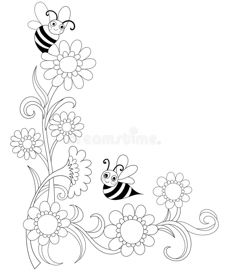 Jardinage de livre de coloration illustration stock