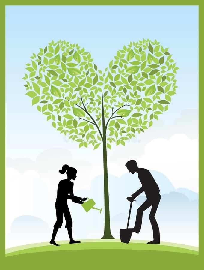 Jardinagem ilustração stock