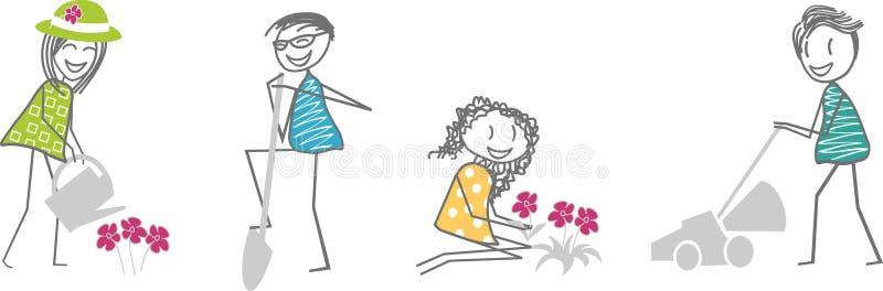 Jardinagem ilustração royalty free