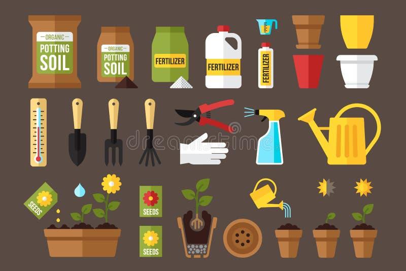 Jardinagem interna ilustração do vetor