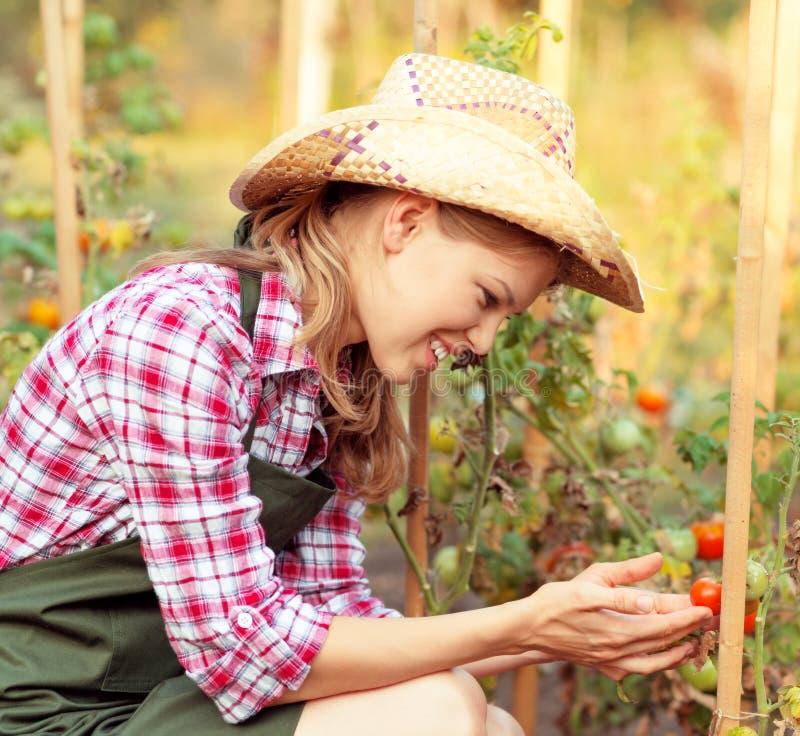 Jardineiro da mulher fotografia de stock
