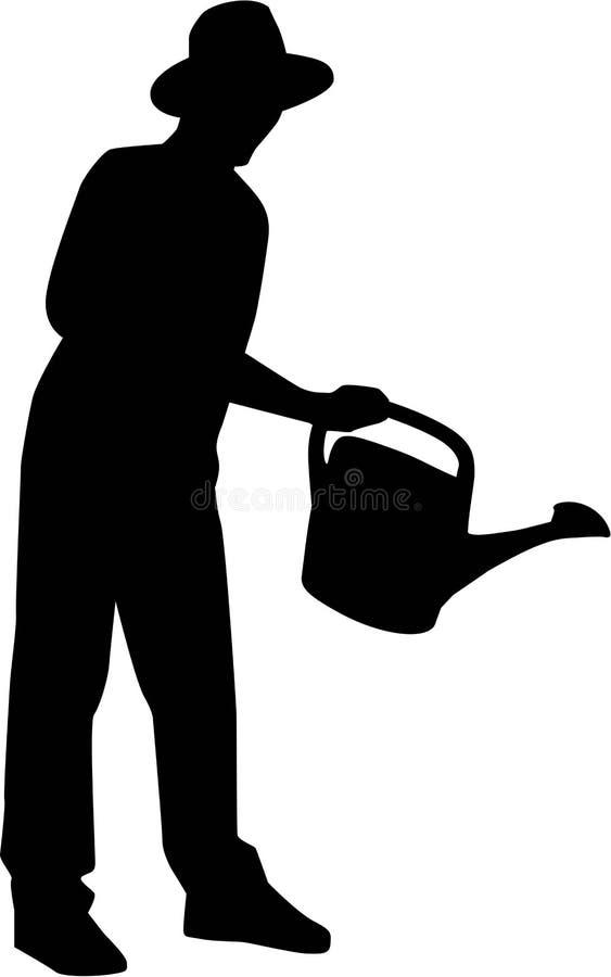 Jardineiro de jardinagem Silhouette ilustração do vetor