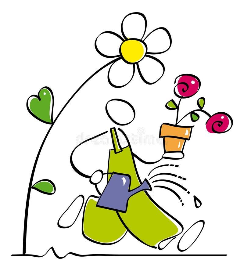 Jardineiro engraçado ilustração stock