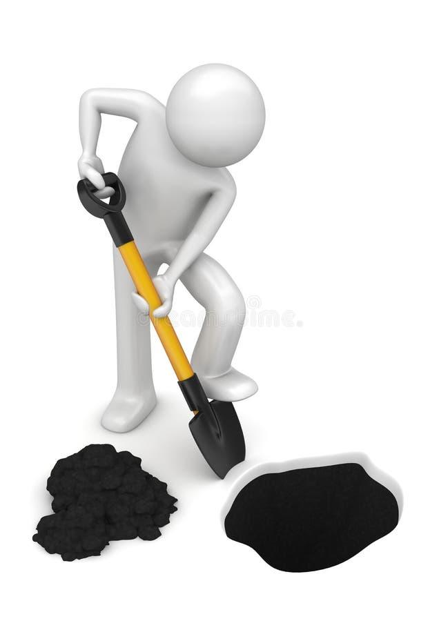 Jardineiro-escavador - trabalhadores